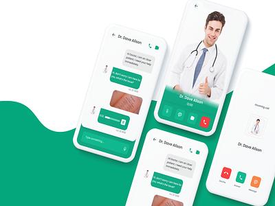Talk to a Doctor. minimal illustration mobile app mobile typography app ui ux design