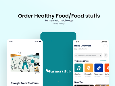 Organic food source mobile mobile app webapp design typography illustration app minimal ui ux design