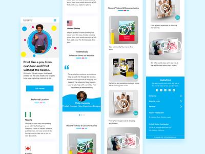 Kiakiaprint webapp design web illustration ui ux design