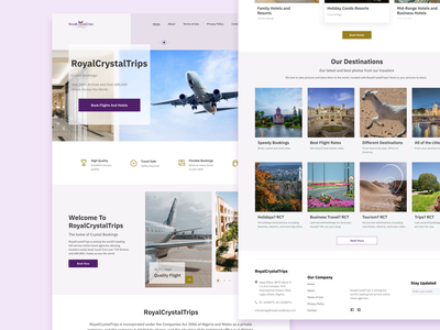 RoyalCrystalTrips web typography minimal ui ux design