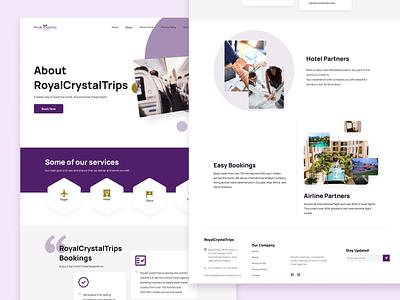 RoyalCrystalTrips typography webapp design web minimal ux ui design