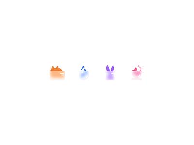 Free: Hiding animals icons identity ui logo design iconography pets illustraion icon design mouse fish rabbit cat blur animals animals logo logo brand icon set icons