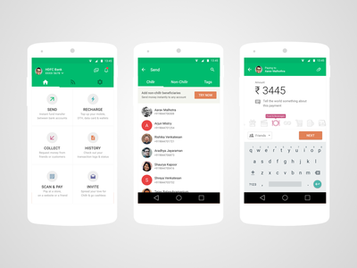 Chillr Payment Flow mobile payment upi payments