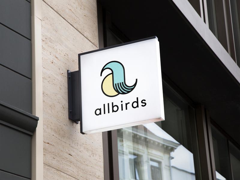 Allbirds Mock Rebrand Signage