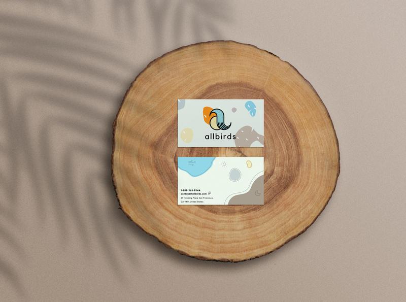 Allbirds Mock Rebrand Business Cards
