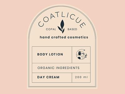Coatlicue - Body Lotion logo branding design identity design branding tag design