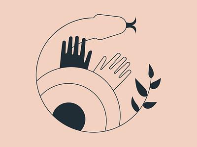 Coatlicue - ISOTYPE isotype branding branding design brand identity identity design illustration