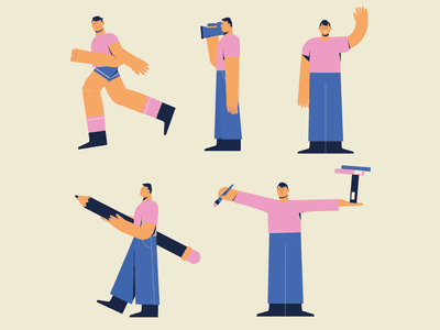 Character - Positions character character design