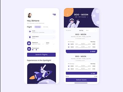 Airline app concept onboarding app illustration uidesign ui