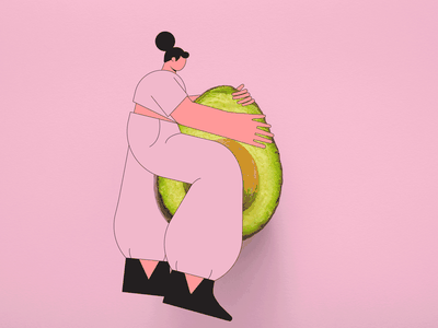 Aguacate lover illustrations vector character design illustration character