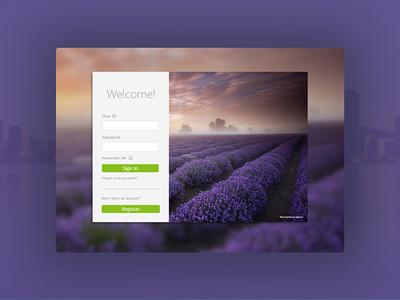 Desktop Login Screen Concepts interface ux dashboard ui