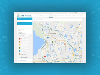 Outage Map Concept interface ux dashboard ui