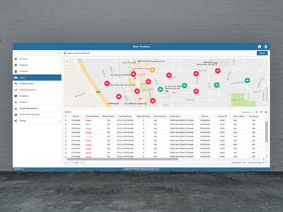 Utility Company Remote Valve Operation interface ux dashboard ui