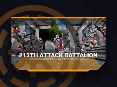 212th AB Website Concept design web interface ui