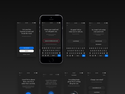 Sign Up UI Components mobile design ios form sign up app design app ui design uiux ui day one dailyui