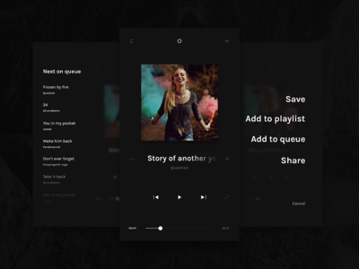 EUI Free Light Music Player PSD daily ui ui design ux uiux ui gumroad freebie ui kit app player music