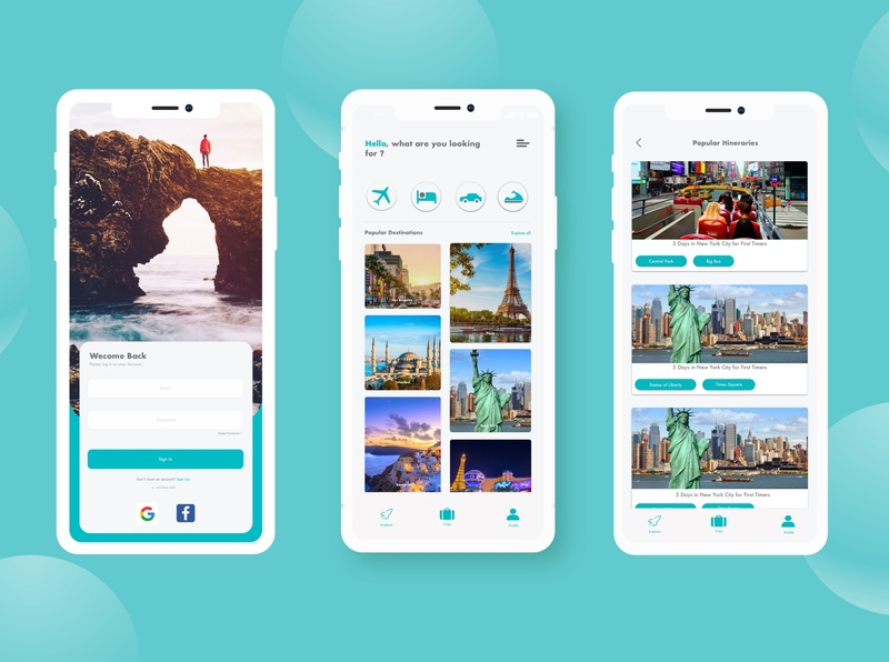 TravelMate ios uxdesign itinerary car rental hotel flight app booking app booking minimal sketch ui uidesign mobile design ux