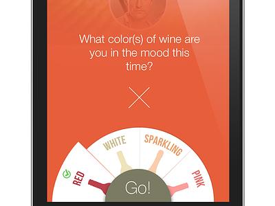 Wine App app ios iphone mobile wine selector radial round modal