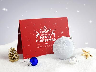 Invitation / Greeting Card Mock-Up wedding mockup mock-up invite invitation greeting folded fold flyer christmas card bifold