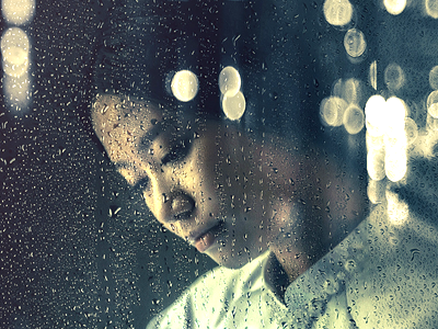 Rainy Day Photoshop Action template photoshop action psd alone love reflection window drops water rain