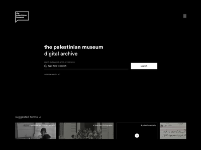 Prototype / Digital Archive / Quick Search usability prototype palestine archive search product clean web high fidelity app wireframe ui ux