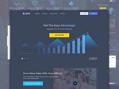 AVAZ update Version screendesign chart responsive web ux ui