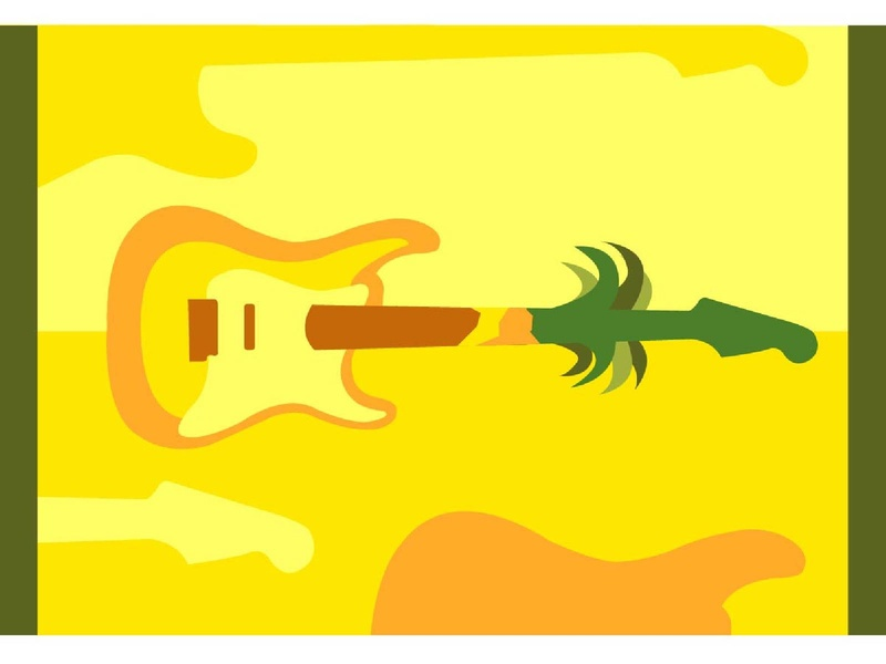 Electric Pinapple Guitar.