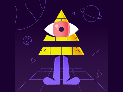 Pyramid Landing motiongraphics motion animation after effects animation 2d animation character design character animation test delivery ship ufo alien egypt pyramid freelance vector character illustration