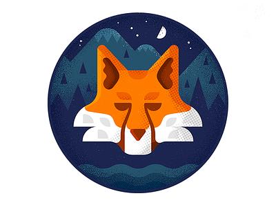 Fox hire design icon character freelance london enisaurus vector illustration