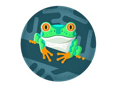 Frog hire design icon character freelance london enisaurus vector illustration