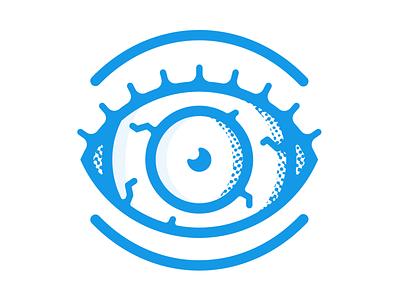 Blue Eye hire design icon character freelance london enisaurus vector illustration