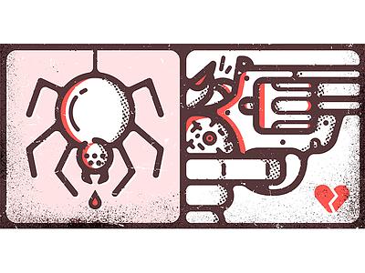 Death Bite hire design icon character freelance london enisaurus vector illustration