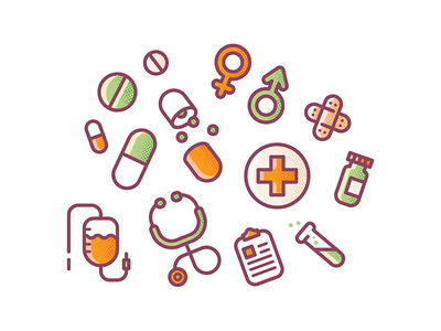 Drugs for everyone! sticker icon health vaccine medicine doctor drugs exhibition illustration
