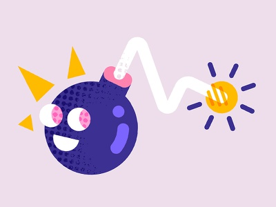 BOOM! character happy fire bomb boom