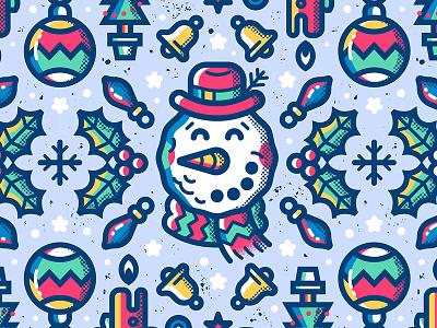 Xmas Pattern pattern textures character lights tree snowman winter christmas xmas