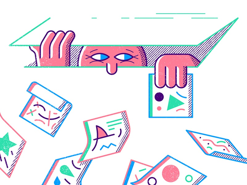 New Post audience post instagram hide editorial character illustration blog
