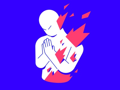 Untitled a1 sinner praying fire freelance vector character illustration