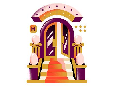 The Washington Post enisaurus textures entrance stars door editorial art tipping tip hotel editorial illustration editorial hire freelance vector character illustration