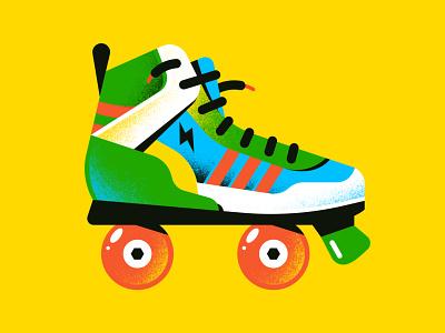 Roller Skater pattern character freelance vector art vector illustration vector enisaurus editorial illustration textures gradients sport skate illustration spot rollerskater skater roller