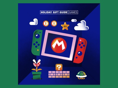 The Washington Post · Super Mario Bros nintendoswitch nintendo supermario videogame pattern textures editorial hire freelance vector character illustration