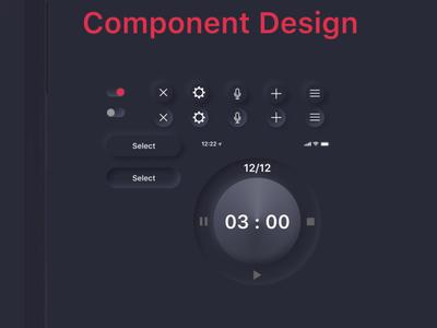 Rounds Case study ui design ux interface design design app neumorphic skeumorphic dark mode dark ui boxing timer app