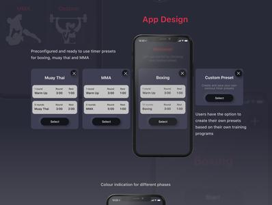 Rounds Case study ux design skeumorphic neumorphic illustration dark ui dark mode boxing ui design interface design design app