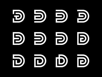 Danny logo exploration fingerprint geometry capital illustrator icon symbol emblem exploration clean simple identity logo