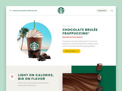 Starbucks Landing Page concept frappuccino chocolate website landing page landing starbucks daily 003 003 dailyui