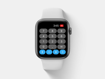 Apple Watch Calculator concept touch calculator watch apple watch apple 004 daily 004 dailyui