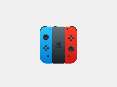 Nintendo Switch App Icon video game joy-con concept console games controller switch icon app nintendo switch nintendo 005 daily 005 dailyui