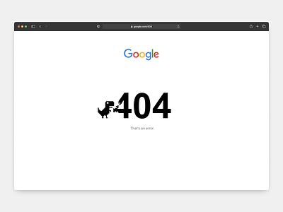 Google 404 Page t-rex concept minimal white pixel dinosaur page 404 error google daily 008 dailyui