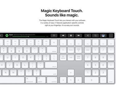 Magic Keyboard Touch –Music Player concept product bar touch touchbar spotify player music magic keyboard apple 009 daily 009 dailyui