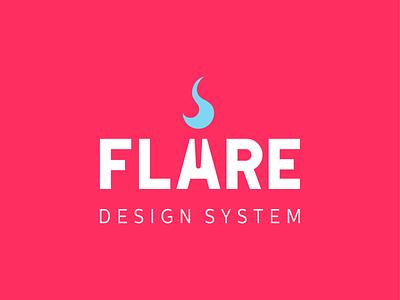 Logo Flare wordmark design system flame burns torch logo flare
