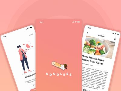 Ududless App redesign simple freebie dribble fresh app clean ui ui minimal